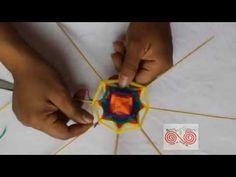 """OJO DE DIOS HUICHOL 8 PALOS """"modificado"""" - YouTube"""