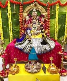 I hope you guys had a wonderful varalakshmi pooja. Checkout our ammavaru this year and let me know what you guys think 😍 Housewarming Decorations, Diy Diwali Decorations, Backdrop Decorations, Festival Decorations, Flower Decorations, Lakshmi Statue, Happy Ganesh Chaturthi Images, Janmashtami Decoration, Silver Pooja Items