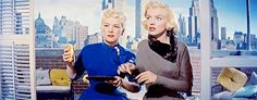 "Marilyn Monroe and Betty Grable in ""How to marry a millionaire"", 1953"