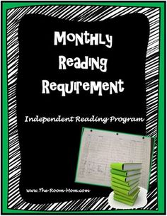 Monthly reading requirement to track students' independent reading-- NO daily reading log! Works with Accelerated Reader