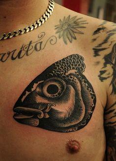 Fish Head Tattoo