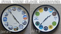 My Star Wars Clock Make-Over | allonsykimberly.com