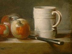 Jean Simeon Chardin  Still Life with White Mug (detail), 1762