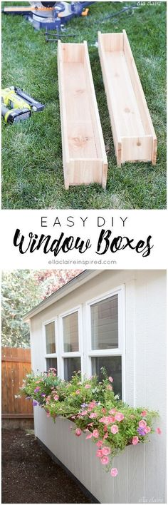 Throw together these easy DIY window boxes to add charm to your home or She Shed! #easydeckstobuild