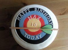 Archery cake By Jenit on CakeCentral.com