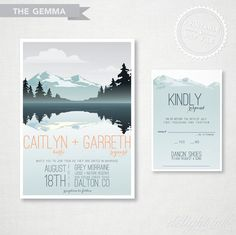 These are wonderful!   Pick your colors, PRINTABLE 'Gemma' Wedding Invitation by delightink on Etsy