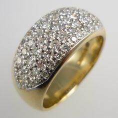 Diamond domed dress ring