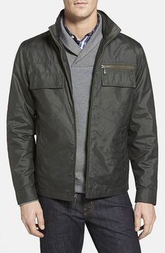 Free shipping and returns on RAINFOREST 'Vintage Army' Satin Bomber Jacket at Nordstrom.com. A sharp stand collar that conceals a stowaway hood tops a throwback bomber jacket designed for a trim silhouette and equipped with a handful of pockets. A print lining enhances the vintage-inspired style.