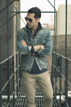 the timeless jean jacket and aviators
