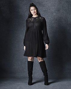 Victoriana Babydoll Dress | Simply Be