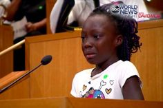 """""""We are black people and we shouldn't have to feel like this."""" - Zianna Oliphant, age 9"""