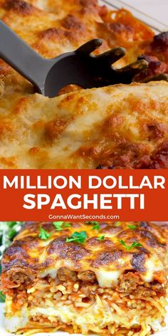 *NEW* Million Dollar Spaghetti brings the best of spaghetti to the best of lasagna and marries them together. Don't shy away from this crowd-pleasing casserole! #Spaghetti #SpaghettiCasserole #Casserole #Pasta #MillionDollarSpaghetti #ComfortFood #Recipes Pasta Recipes, Beef Recipes, Recipies, Cooking Recipes, Healthy Recipes, Perfect Pasta Recipe, Easy Casserole Dishes, Beef Meals, Supper Ideas