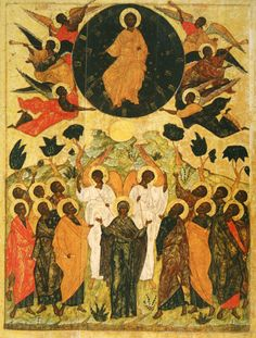 Ascension Icon by Andrei Rublev (late - early century). The Ascension of Our Lord Jesus Christ is traditionally celebrated. Byzantine Icons, Byzantine Art, Religious Icons, Religious Art, Black History Facts, Art History, Black Jesus, Russian Icons, Christian Art