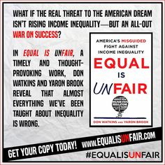 Equal Is Unfair is available now! http://www.amazon.com/Equal-Is-Unfair-Misguided-Inequality/dp/125008444X