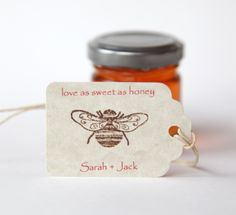 Love as Sweet as Honey Wedding favors. Obviously, these would be perfect favors for our wedding!