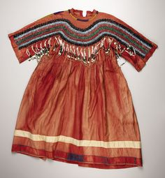 A BLACKFEET BEADED CLOTH DRESS. . c. 1900. ... American Indian | Lot #77291 | Heritage Auctions