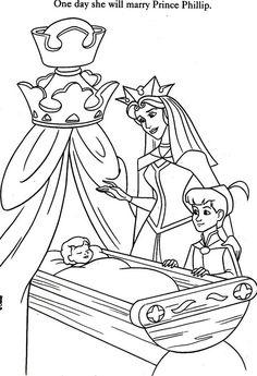 Sleeping Beauty. Disney Coloring Page. coloriage la belle au bois dormant Cartoon Coloring Pages, Coloring Pages To Print, Coloring Book Pages, Coloring Pages For Kids, Disney Princess Coloring Pages, Disney Princess Colors, Disney Colors, Sleeping Beauty Coloring Pages, Disney Paintings