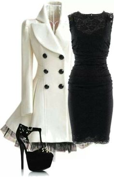 Like the coat and Dress but not the heels.