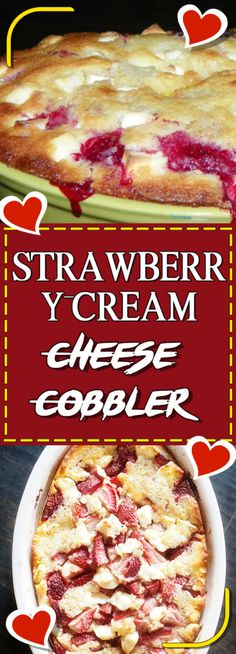 """Welcome again to """"Yummy Mommies"""" the home of meal receipts & list of dishes, Today i will guide you how to make """"STRAWBERRY CREAM CHEESE COBBLER"""". I made this Delicious recipe a few days ago,"""
