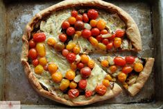 tomato, blue cheese and balsamic pizza ~ Heather Christo