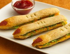 2014 Halloween witch finger food recipes of sandwiches with cheese - ketchup #2014 #Halloween
