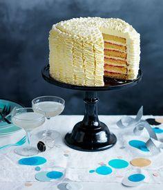 Vanilla-rose layer cake