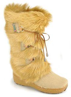 Pajar | Beige Fur Boot | Lyst