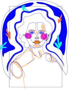Frau Illustration Meer Sea Matisse Papercut Julia Feller Ästhetische Erziehung