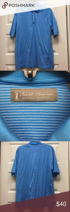 NWOT Daniel Cremieux polo shirt NWOT. Daniel Cremieux Signature Collection polo shirt. Light blue striped. 79% cotton 21% polyester. Size large. Never worn. Daniel Cremieux Shirts Polos