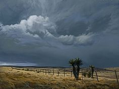 """Between Storms, Just South of Marfa by Dennis Farris Oil ~ 30"""" x 40"""""""