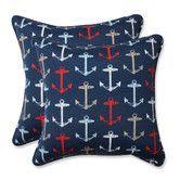 Found it at Wayfair - Anchor Allover Indoor/Outdoor Throw Pillow