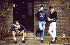 Andy Walters, Edward Wilding and Sacha Legrand are front and center for a retro-inspired editorial in the spring-summer 2015 edition of British GQ Style. Prep Style, Gq Style, Gq Mens Style, Preppy Mens Fashion, Nerd Fashion, Uk Fashion, Fashion Quotes, Lolita Fashion, Fashion History