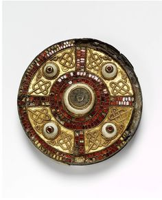 Anglo-Saxon, The Milton Brooch, made in 7th century England