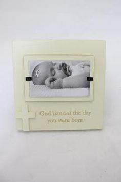 God Danced Frame $12.95 #woodenframe #babygift
