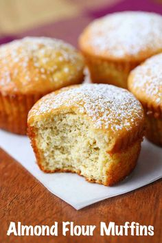 Almond Flour Muffins, Baking With Almond Flour, Almond Flour Recipes, Coconut Flour, Almond Milk, Almond Flour Biscuits, Almond Flour Bread, Almond Flour Cookies, Healthy Gluten Free Recipes