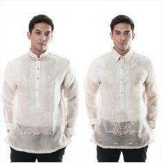Barong Tagalog Wedding, Barong Wedding, Baro't Saya, Wedding Dreams, Dream Wedding, Rustic Wedding Groom, Kurta Men, Chinese Collar, Tropical Fashion