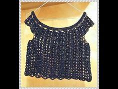 MINI * TOP *  ESTIVO,  A UNCINETTO ( 1° PARTE ) - YouTube Crochet Tank, Crochet Patterns, Crochet Ideas, Tunic Tops, Knitting, Lace Shawls, Blouse, Halter Tops, Dresses