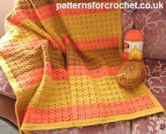 Free crochet pattern warm and cuddly lapghan usa