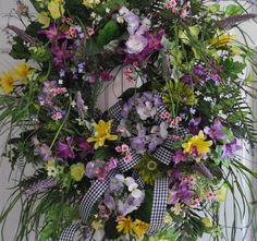 XXL Spring Summer Wreath For Front Door Hydrangea by RedBarnWreath, $209.97