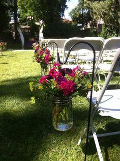 Mason jar arrangements Mason Jar Flower Arrangements, Mason Jar Flowers, Mason Jars, Piedmont Community Hall, Amanda, Celebration, Dream Wedding, Party Ideas, Wedding Ideas