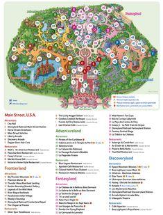 Map of Disneyland Paris, Disney Land Paris, Eurodisney Paris, Euro Disney Paris