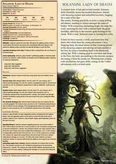 Solanum, Lady of Death: DnD 5e Homebrew