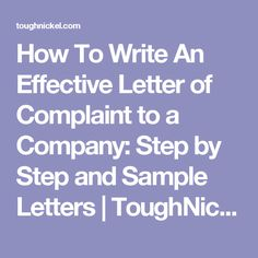 how to write an effective complaint letter