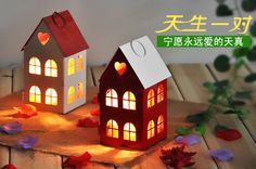 Free shipping Fashion little house heart metal candle holder iron lantern  home decoration Chirstmas decoration Farol de metal US $15.54