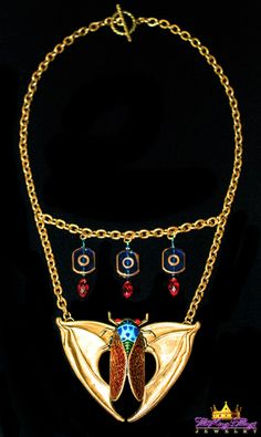 1-6. Cicada Necklace Our new runway jewelry on ETSY: https://www.etsy.com/shop/TheKingsThings