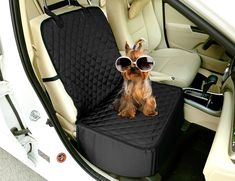 Dog Seat Cover for CarsCandD 3 in 1 Waterproof Pet Front Seat Cover Backseat Cover Pet Booster Carrier Deluxe 900 Oxford Quilted FabricWaterproof Protector for Car Seats with Safety Belt Black *** Look into this terrific item. (This is an affiliate link).