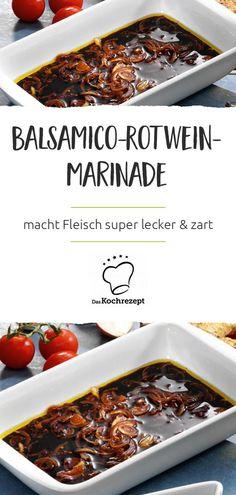 Balsamico-Rotwein-Marinade – wenn du Fleisch darin einlegst, wird es super lecker! Die Zubereitung geht super fix und dein Rinder-oder Schweinefleisch wird super zart!