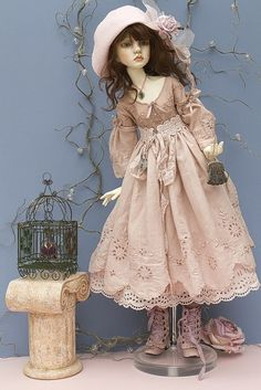 Amy by jeanoak (Lililace Originals) Clay Dolls, Bjd Dolls, Dollhouse Dolls, Miniature Dolls, Pretty Dolls, Beautiful Dolls, Beautiful Things, Real Doll, Paperclay