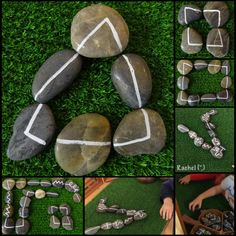 """Shapes and patterns with line stones - from Rachel ("""",)"""