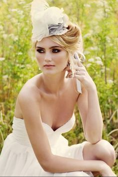 A gorgeous alternative to the traditional bridal veil.